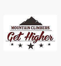 Mountain Climbers Get Higher Photographic Print