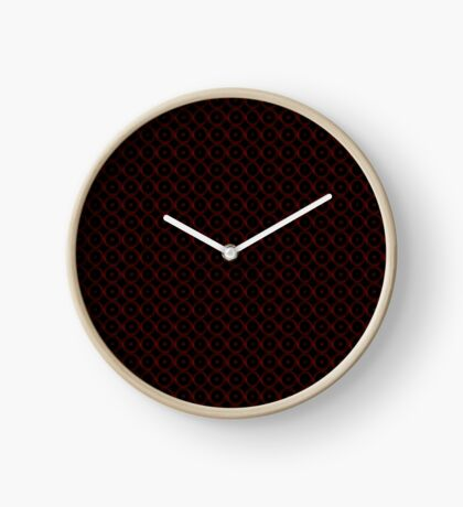 Black with Red Circles Clock