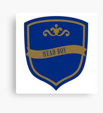 Blue and Bronze Badge Canvas Print