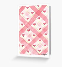 Valentine's 2017 Collection- Red & Gold Heart Plaid Greeting Card