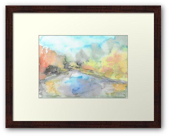 Autumn river by Yana Art