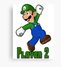 Luigi Player Two Canvas Print