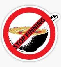 STOP FINNING SHARKS Sticker