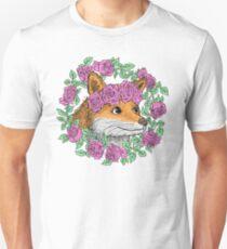 Flower Crown Fox Unisex T-Shirt