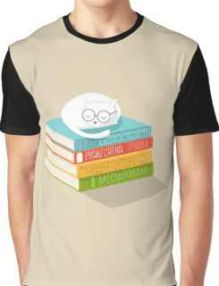 The Cat Loves Books Graphic T-Shirt