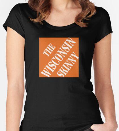 Wisconsin Skinny Fixin' Stuff Women's Fitted Scoop T-Shirt
