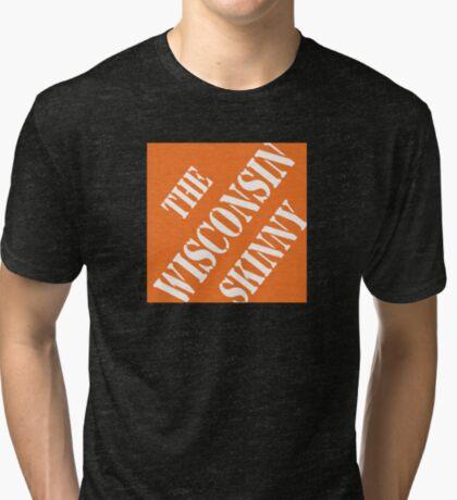 Wisconsin Skinny Fixin' Stuff Tri-blend T-Shirt
