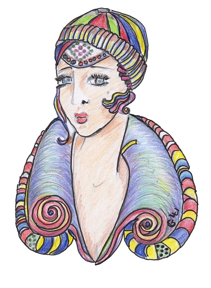 Lola Art Deco Lady by Giselle Luske