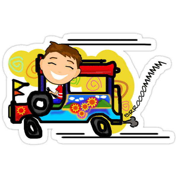 Jeepney Driver Stickers By Dadrummer Redbubble