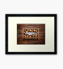 Raw Fish & Chips Framed Print