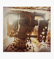 Back of the Base of a Navy Gun Photographic Print