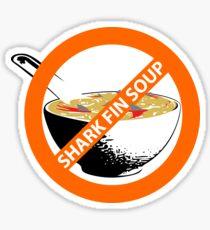 no shark fin soup Sticker