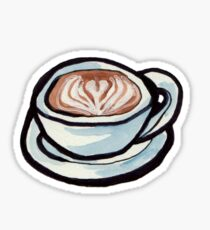 latte heart Sticker