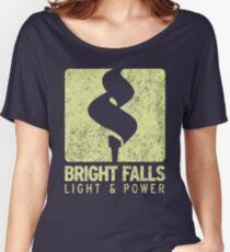 Bright Falls Light & Power (Alt.) (Grunge) Women's Relaxed Fit T-Shirt