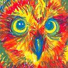 primary color owl by HiddenStash