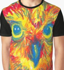 primary color owl Graphic T-Shirt