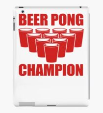 Beer Pong Champion iPad Case/Skin