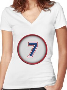 7 - Pudge (alt version) Women's Fitted V-Neck T-Shirt