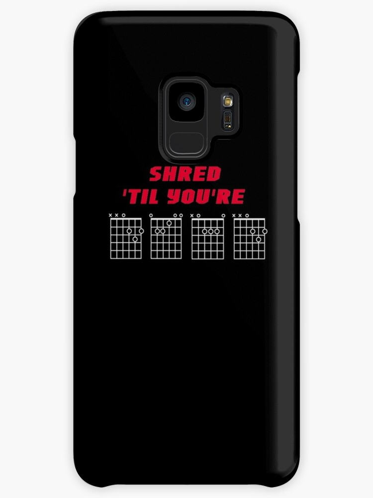 Shred Til Youre Dead Guitar Chords Design Red Text On Black