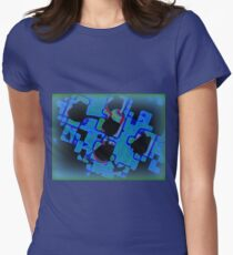 GREEN GLOW PUZZLE Womens Fitted T-Shirt