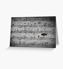 The Music of Life Greeting Card