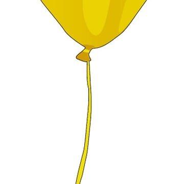 Yellow Balloon, Graphic Design by AnnabelsBelongs