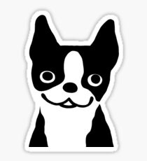 Boston Terrier Smiling Face Sticker