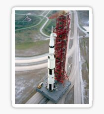 High angle view  of the Apollo 15 space vehicle. Sticker