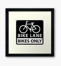 Bike Lane Framed Print