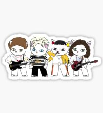 Meow rock band Sticker