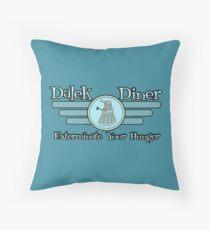 Dalek Diner 2 Throw Pillow
