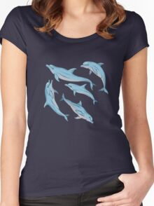 A story about dolphins 3 Women's Fitted Scoop T-Shirt