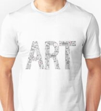 Art - inscription of the tools of the artist. Unisex T-Shirt