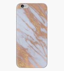 Marmor - Rose Gold Marmor mit Gelbgold Glitter iPhone-Hülle & Cover