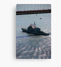 USS Mobile Bay (CG 53), Ticonderoga class guided-missile cruiser Canvas Print
