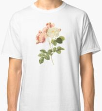White and pink rose Classic T-Shirt
