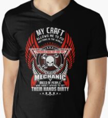 Mechanic My Craft Allows Me To Fix Mens V-Neck T-Shirt
