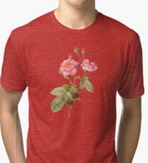 Pink rose ll Tri-blend T-Shirt