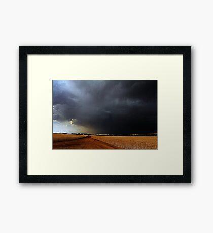 Wheatbelt Thunderstorm Framed Print