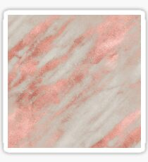 Marble - Rose Gold Marble Foil on White Sticker
