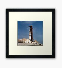 Apollo 11 space vehicle taking off from Kennedy Space Center. Framed Print