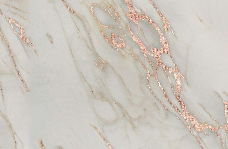 """Gold And Silver Wall Art """"Marble - Rose Gold Marble Metallic Blush Pink"""" Laptop ..."""