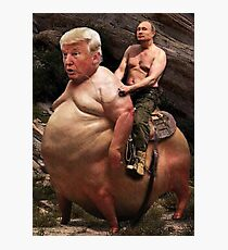 Putin riding Trump Photographic Print