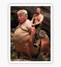Putin riding Trump Sticker
