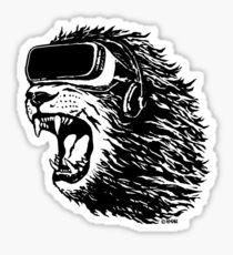 VR Lion Sticker