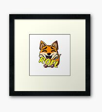 mr. rofl fox Framed Print