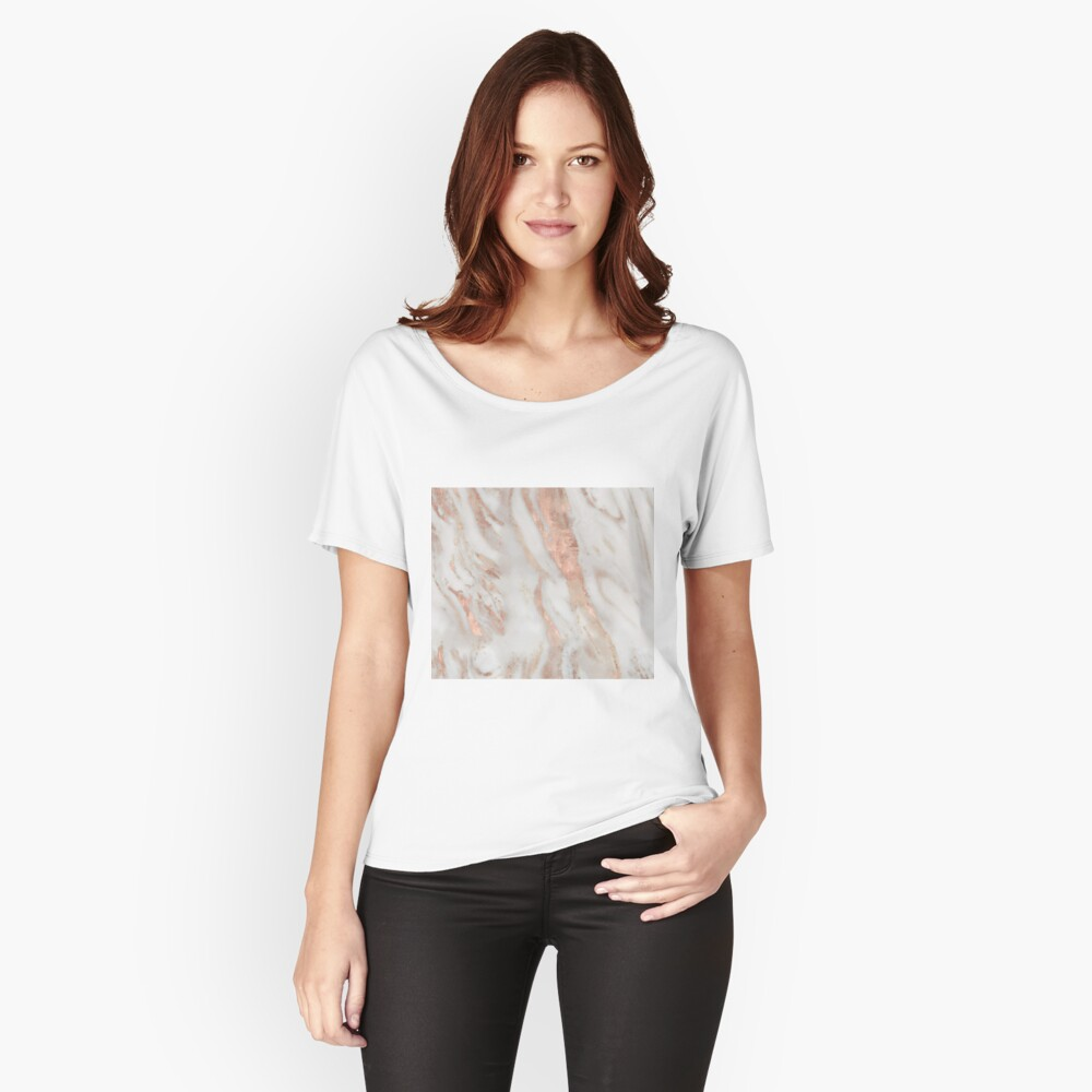 Civezza - rose gold marble Relaxed Fit T-Shirt