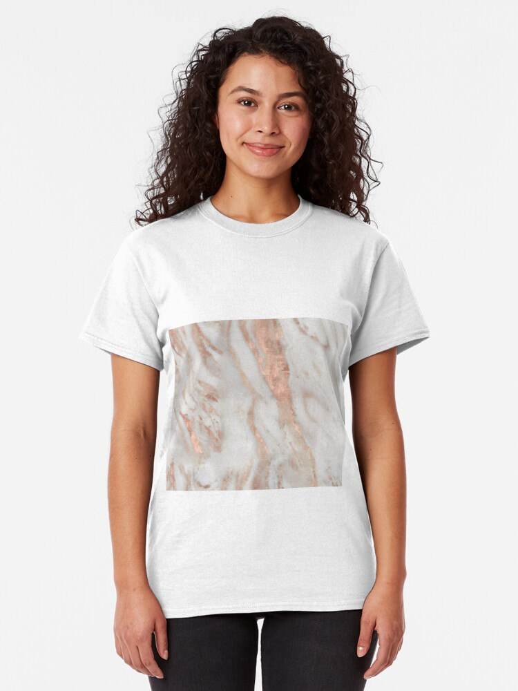 Alternate view of Civezza - rose gold marble Classic T-Shirt