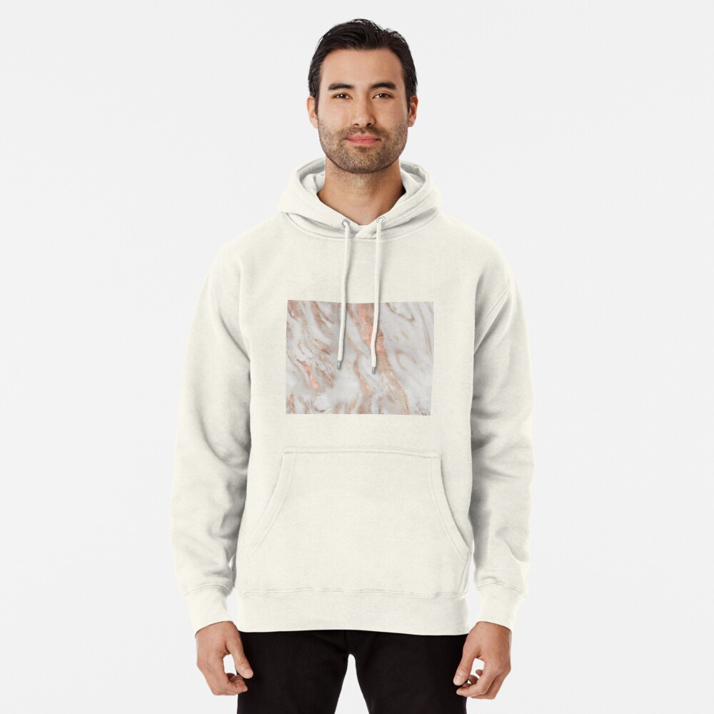 Civezza - rose gold marble Pullover Hoodie