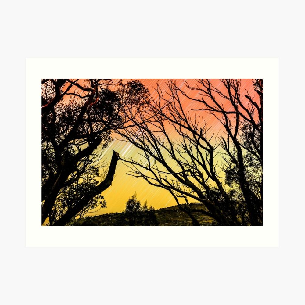 Der Himmel brennt Kunstdruck